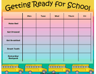 Getting Ready For School Chore Chart